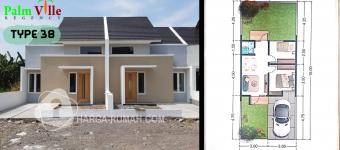 Rumah Contoh, Denah Type 38 Palm Ville Regency, Dijual Rumah Di Sidoarjo Palm Ville, Dijual Rumah Sidoarjo Palm Ville, Dijual Rumah Di Surabaya Palm Ville,
